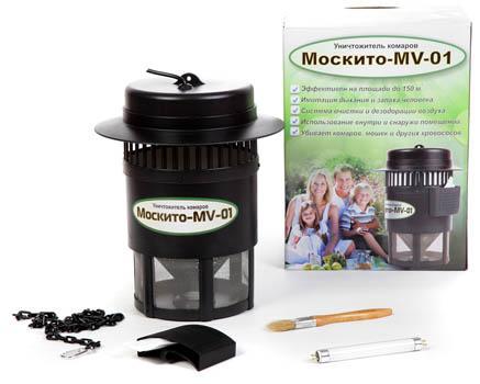 Комплект поставки уничтожителя комаров и других насекомых Москито MV-01 (увеличение по клику)