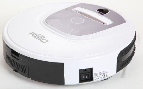 """Когда робот-пылесос """"Robo-sos XR-510D"""" не используется, его можно выключить кнопкой на боковой стороне"""
