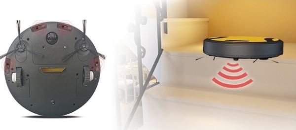 """""""SITITEK 330A"""" оснащен датчиками, которые исключают столкновение робота-пылесоса со стенами и мебелью"""