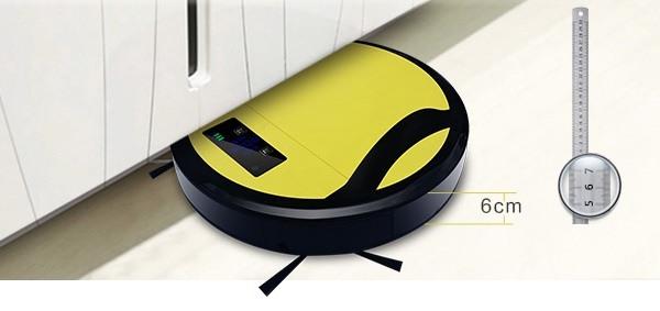 """Робот-пылесос """"SITITEK 330A"""" легко проникает под диваны, кровати и прочую мебель"""