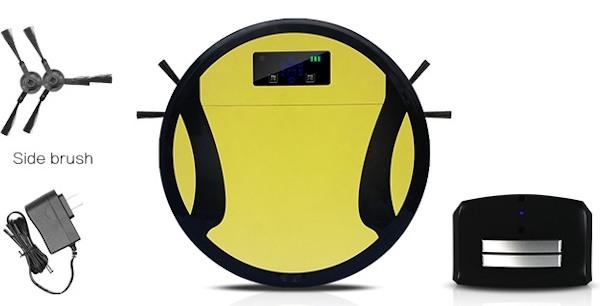 """Зарядная станция, адаптер питания и боковые щеточки из комплекта  поставки робота-пылесоса """"SITITEK 330A"""""""