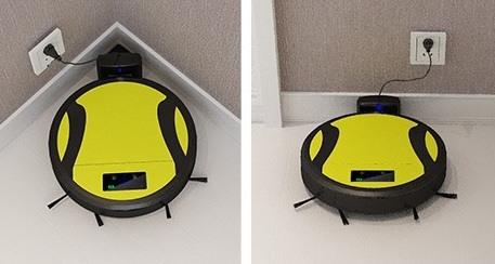 """Так робот-пылесос """"SITITEK 330A"""" выглядит в режиме подзарядки от базы"""