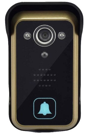 Вызывная панель беспроводного видеодомофона SITITEK Dome 3.5 имеет современный дизайн и хорошо подходит к внешнему виду практически любых входных дверей