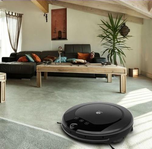 """Робот-пылесос """"SITITEK E55"""" легко проникает под диваны, кровати и прочую мебель"""
