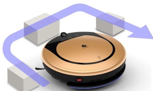 """""""SITITEK E55"""" оснащен датчиками, которые исключают столкновение робота-пылесоса со стенами и мебелью"""