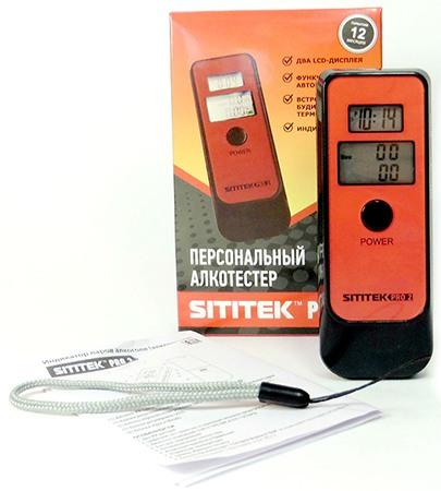 Три клавиши на боковой панели алкотестера SITITEK PRO2 отвечают за настройку часов и переключение режимов работы прибора