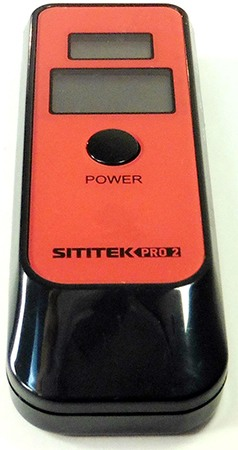 Вот в такой коробке поставляется алкотестер SITITEK PRO2