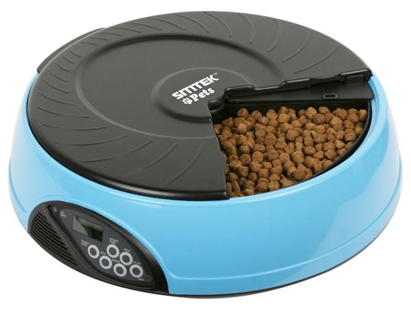 Автокормушка SITITEK Pets Mini в корпусе голубого цвета