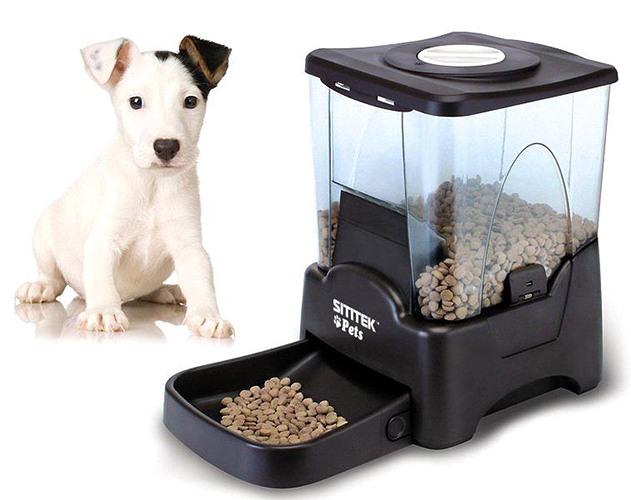 Автокормушка SITITEK Pets Tower-10 – программируемая модель с большим резервуаром для автоматического кормления домашних питомцев разных размеров