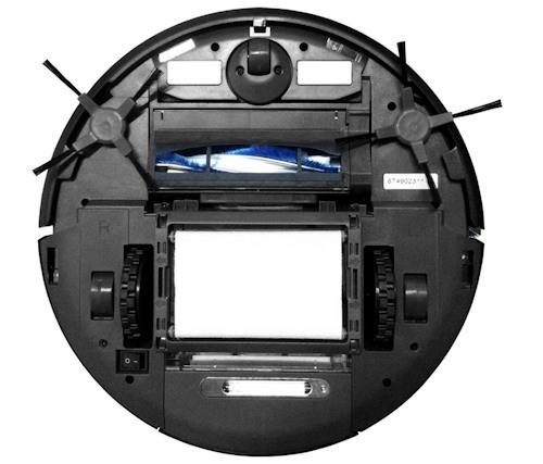 """Робот-пылесос """"SITITEK QQ6"""" с установленной салфеткой для влажной уборки"""
