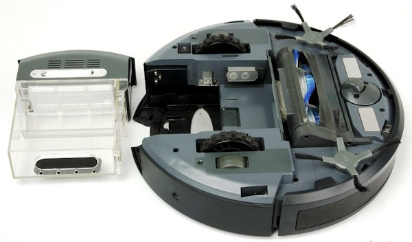 """Робот-пылесос """"SITITEK QQ6"""" со снятым мусорным контейнером"""