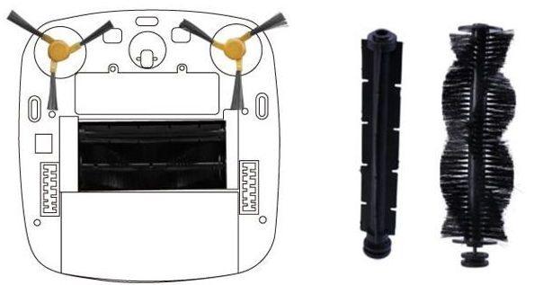 """Робот-пылесос """"SITITEK S600"""" оснащен модулем с двумя щетками: скребковой и ворсовой"""