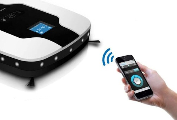 Роботом-пылесосом SITITEK S600 можно управлять смартфоном через Wi-Fi