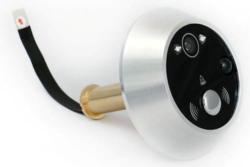 На компактном внешнем модуле умещаются камера, звонок, детектор движения и 2 светодиода подсветки