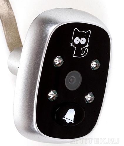Наружная часть видеоглазка SITITEK Simple: с камерой, инфракрасной подсветкой и кнопкой звонка