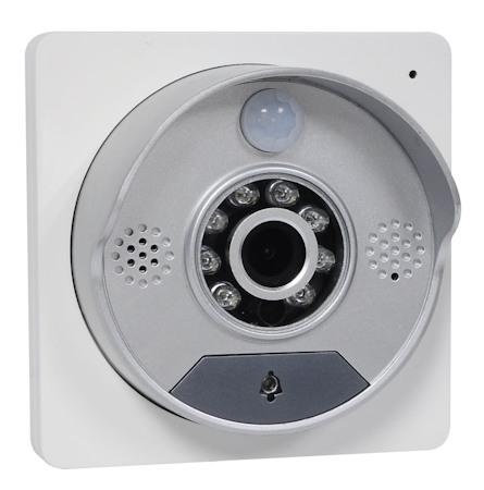 Вызывная панель беспроводного видеодомофона SITITEK Spot имеет современный дизайн и хорошо подходит к внешнему виду практически любых входных дверей