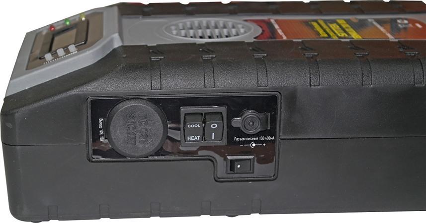На боковой панели обогревателя  SITITEK Termolux-200USB размещены клавиши управления и разъемы (нажмите на фото, чтобы увеличить)