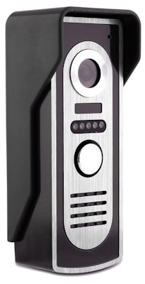 Вызывная панель беспроводного видеодомофона SITITEK Ward имеет современный дизайн и хорошо подходит к внешнему виду практически любых входных дверей