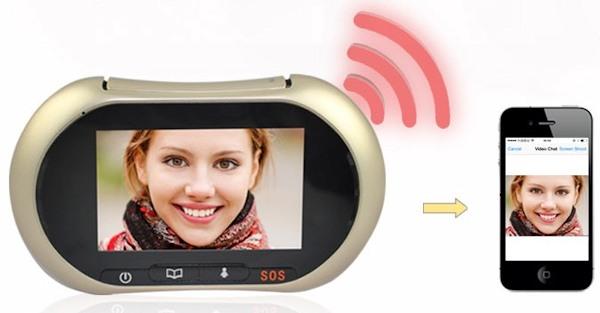 """Видеоглазок """"SITITEK i3"""" может через Wi-Fi соединяться с устройствами на iOS и Android"""
