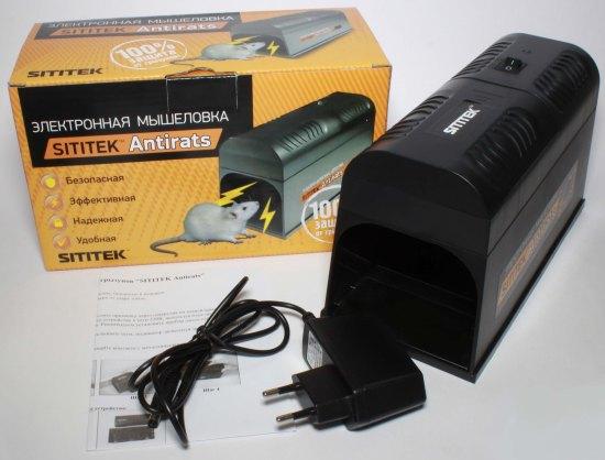В комплект поставки уничтожителя грызунов SITITEK Antirats входит адаптер питания от сети 220 В