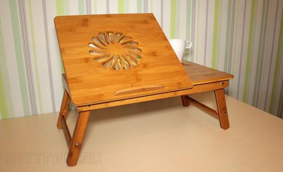 """Функциональный и удобный столик """"SITITEK Bamboo 1"""" может использоваться не только для ноутбука"""
