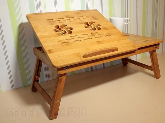 Функциональный и удобный столик SITITEK Bamboo 2 может использоваться не только для ноутбука