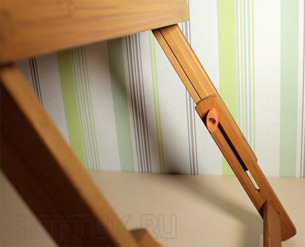 Складные ножки столика SITITEK Bamboo 2 выдвинуты на максимальную длину