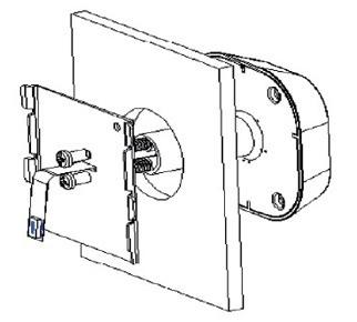 Для стяжки наружной части видеоглазка и стальной скобы используйте выбранные вами по длине винты