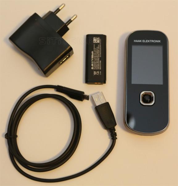 USB-шнур, сетевой адаптер и аккумулятор, поставляемые в комплекте с устройством