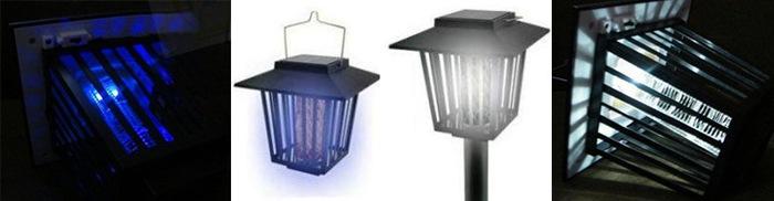"""""""Садовый"""" может работать и как уничтожитель комаров (слева), и как обычный уличный фонарь (справа)"""