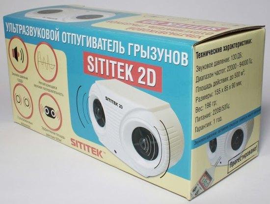 Вся информация в инструкции и на упаковке отпугивателя Sititek 2D размещена на русском языке