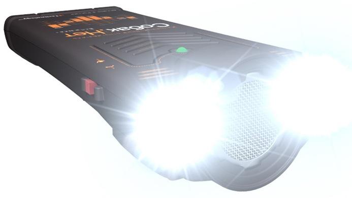 """Посмотрите, насколько ярко светят светодиодные стробоскопы отпугивателя """"Собак.Нет Вспышка+"""""""