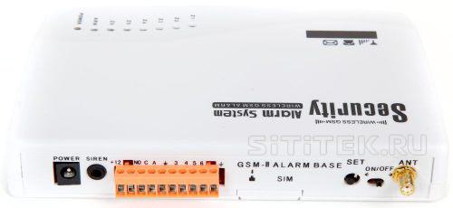 """Все разъемы и переключатели на контрольной панели сигнализации GSM """"Sokol GSM Profi"""" вынесены на одну сторону, что облегчает доступ к ним"""