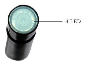 Объектив мини-камеры оснащен 4-мя LED диодами с регулируемой яркостью для подсветки затемненных объектов