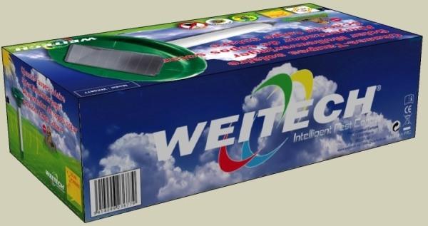 """Отпугиватель """"Weitech-WK677 Solar"""" поставляется в красочной упаковке"""