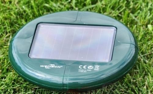 "Солнечная батарея на корпусе отпугивателя кротов ""Weitech-WK677 Solar"""