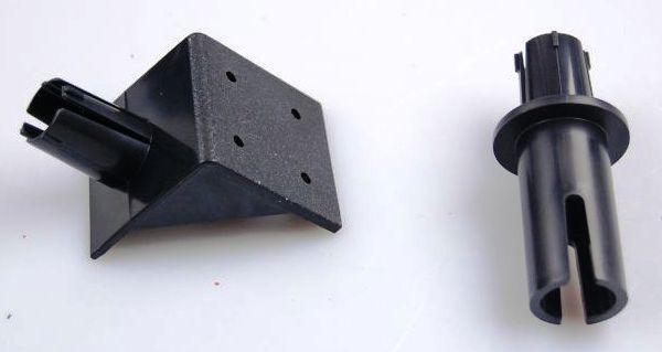 """Два кронштейна из комплекта отпугивателя """"Weitech WK0051"""" — для крепления на стену и на трубу"""