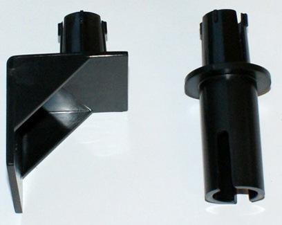 """Два кронштейна из комплекта отпугивателя """"Weitech WK0052"""" — для крепления на стену и на трубу"""