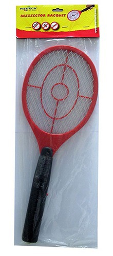 """Ракетка от комаров """"Weitech WK0071"""" поставляется вот в такой прозрачной упаковке"""