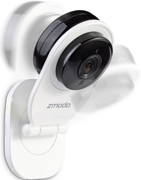 """IP-камера """"Zmodo SH721"""" свободно регулируется и может быть установлена в наиболее подходящем положении"""