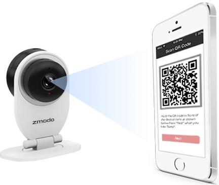"""IP-камера """"Zmodo SH721"""" элементарно подключается к мобильным устройствам путем сканирования QR-кода"""