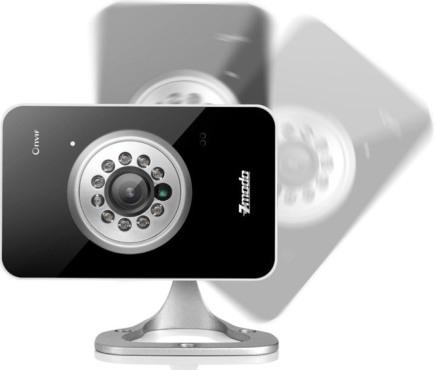 """IP-камера """"Zmodo iXD1D-WAC"""" свободно регулируется и может быть установлена в наиболее подходящем положении"""