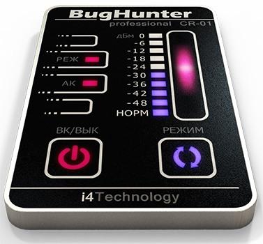 TOUCH-панель и сенсорное управление обнаружителя жучков BugHunter CR-1