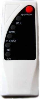 Органы управления безлопастным вентилятором 'Сoolguy' продублированы на входящем в комплектацию пульте ДУ