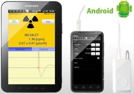 Портативный дозиметр радиации, работающий с устройствами на IOS и Android