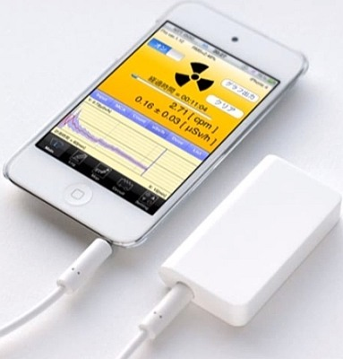 Дозиметр радиации для Iphone/ Ipad/ Ipod имеет стильный дизайн и компактные размеры
