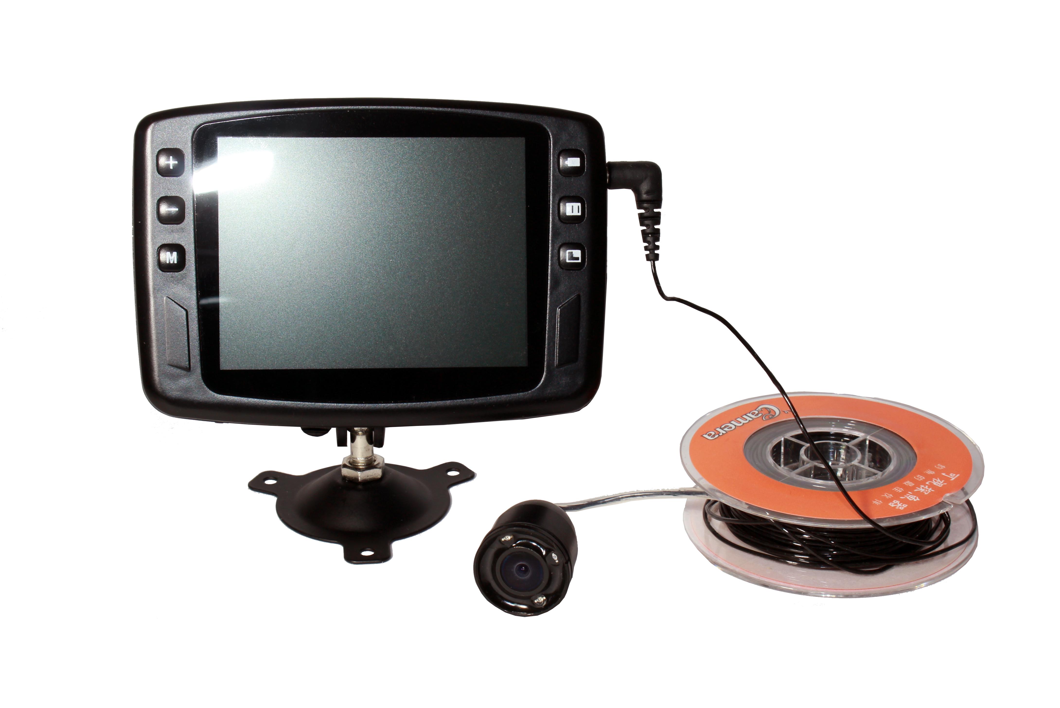 """Монитор рыболовной видеокамеры """"FishCam-501"""" обеспечивает детализированное изображение, а кабель длиной 15 м — возможность глубоководной съемки (нажмите на фото для увеличения)"""