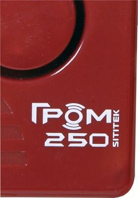Так выглядит логотип и наименование модели на корпусе оригинального отпугивателя собак Гром-250