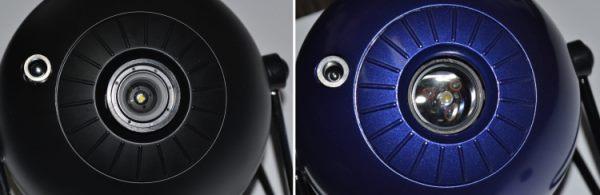 """Отличия оптических систем планетариев видны невооруженным глазом: в """"Classic"""" (справа) использована более качественная линза большего диаметра, чем у """"Pro2"""" (слева)"""