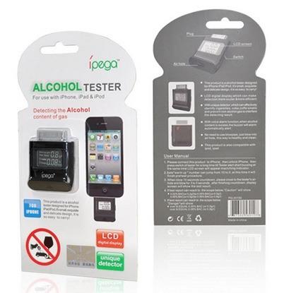Алкотестер IPEGA для iPhone 4/4S/iPad/iPod поставляется вот в такой блистерной упаковке